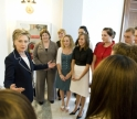 Semester in Washington Politics students meet then-Senator Hillary Clinton