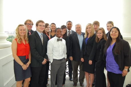 Semester in Washington Politics students with Chief of Staff to the Speaker of the House Barry Jackson