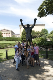 SIWP and NAPLP students pose with Rocky