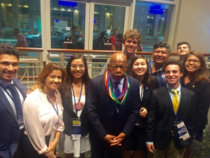 SIWP and NAPLP students with Rep John Lewis