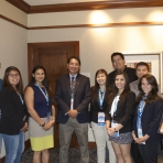 Our NAPLP students meeting with Navajo VP Jonathan Nez